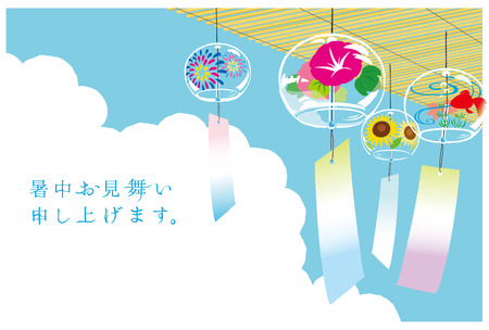 Japanese wind chimes illustration