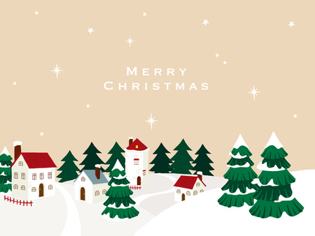 Christmas landscape illustration 向量圖像