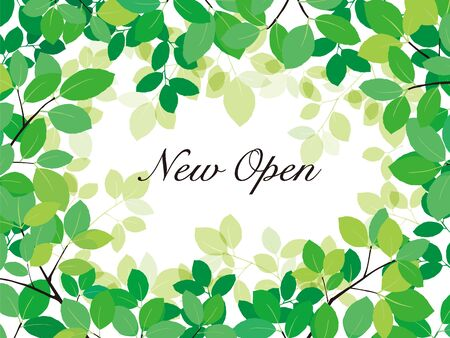 open the new poster. Green leave on white background