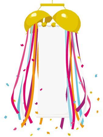 illustrazione vettoriale di palla di carta decorativa
