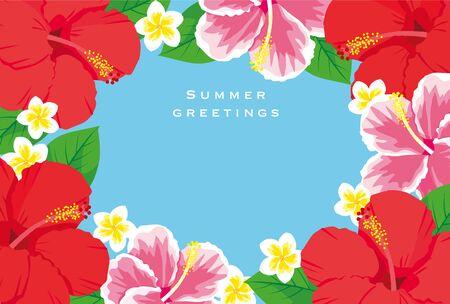Summer Greeting card template vector illustration