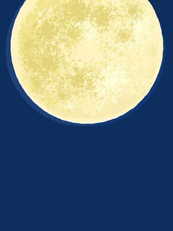 Night with a full moon Ilustração