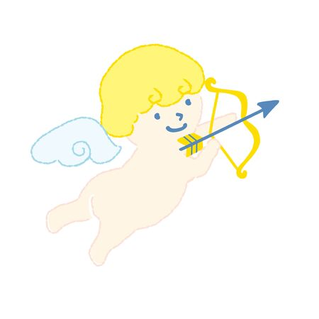 Angel that shoots an arrow vector illustration.