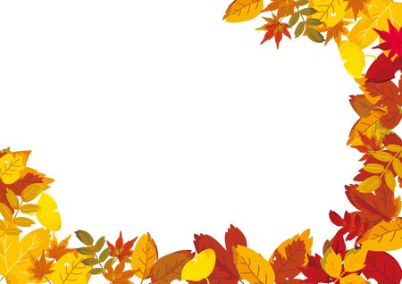 Background of autumn leaves, vector illustration.