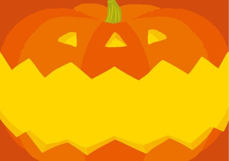 Vector Illustration of a Scary Halloween Background Stockfoto - 129556491