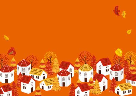 Autumn Townscape Illustration