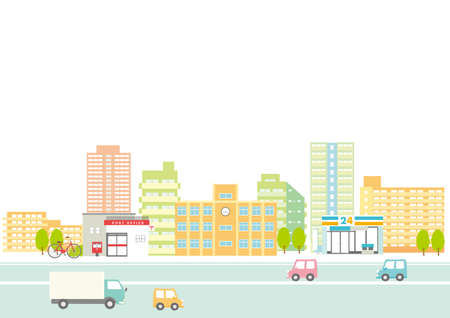 Background illustration of the streets and roads