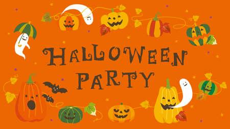 Halloween Party Illustrations  イラスト・ベクター素材
