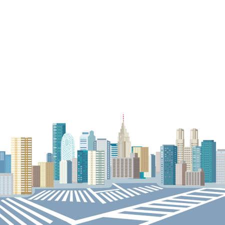 Shinjuku townscape image illustration