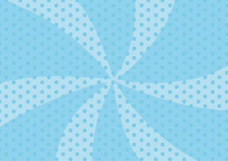 Light blue concentrated line polka ball background