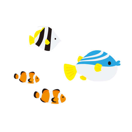 Fish at the Bottom of the Sea Illustration