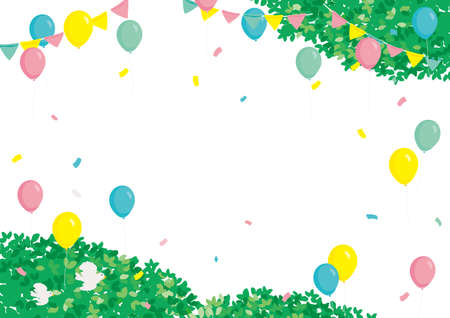 Event background illustration balloon and fresh green
