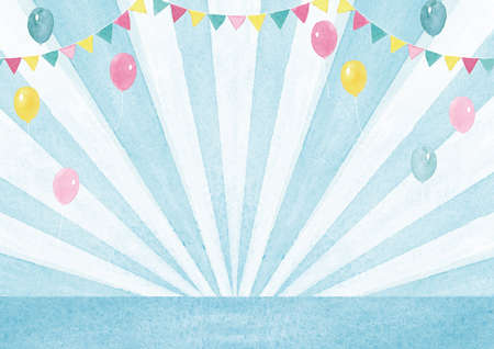 Watercolor Background Event Background Focus lines and balloons