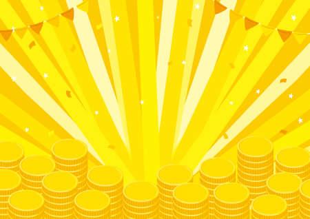 Money Coin Background Illustration