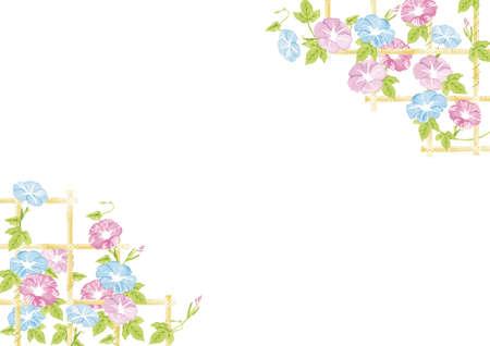 Asa on bamboo shelf watercolor illustration Reklamní fotografie