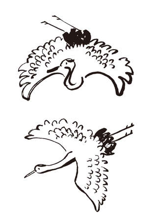 Crane Flies Sumi-e Set