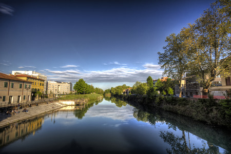 Water canal in Padova, Italy, photo