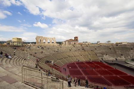 roman amphitheater: Inside the Arena di Verona the second largest roman amphitheater in the world