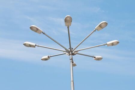 streetlights: the streetlights with beautiful blue sky background
