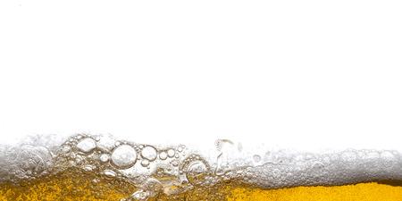 Beer Background Bubbles. Close Up of Beer Foam. Reklamní fotografie