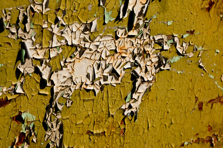 Old cracked colored paint Stock Photo