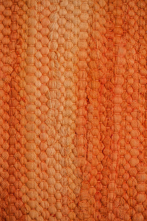 bonded: Orange bonded carpet closeup background Stock Photo