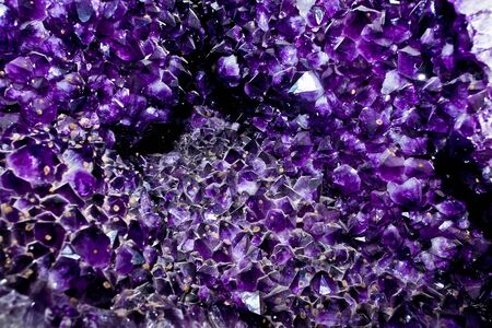 Crystal facets detail cloceup purple amethyst mineral