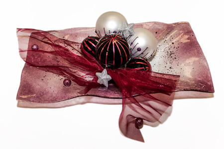 starr: Arranged Christmas decorations balls wintertime