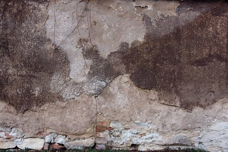 Battered old wall Stock Photo