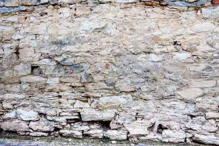 old castle stone wall background and texture