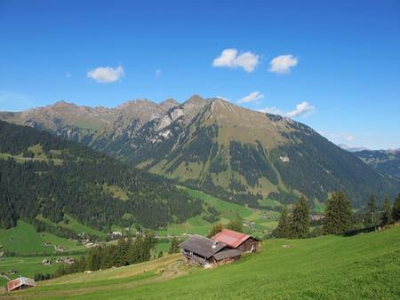 saanenland: mountain in the saanenland Stock Photo
