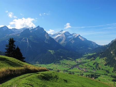 village near gstaad Stock Photo