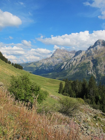 canton berne: hiking in the saanenland Stock Photo