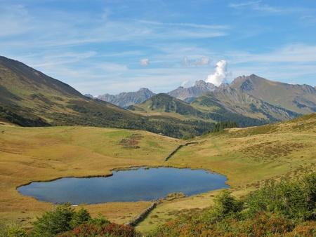 saanenland: mountain lake in the saanenland
