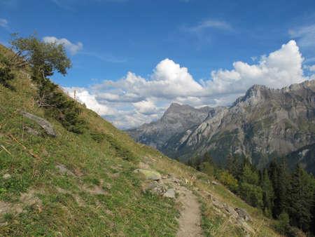 saanenland: mountain-trail