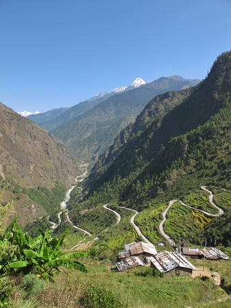 landscape on the way to langtang