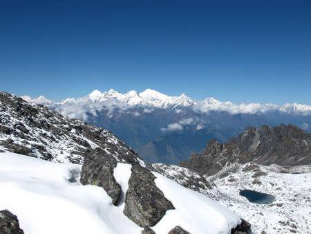Mountain-lake in the Himalayas