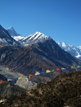 Prayer flags in the Annapurna Conservation Area