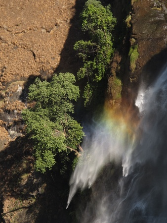 Rainbow caused by a waterfall Stock Photo - 12039144