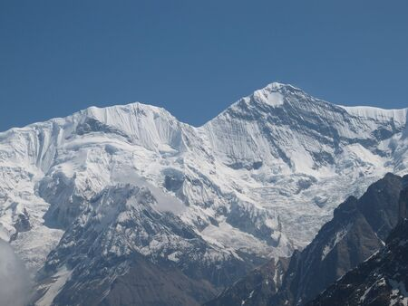 Ganggapurna, mountains of the Annapurna Range Stock Photo - 13821292
