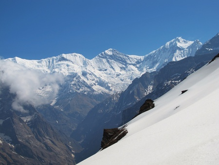 Ganggapurna and Annapurna 3 photo