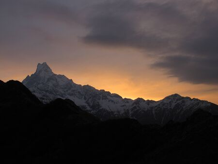 Sunrise in the Himalayas photo