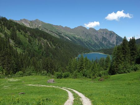 bernese oberland: Trekking in the Bernese Oberland Stock Photo