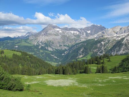 canton berne: Landscape in the Swiss Alps