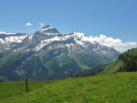gstaad: Oldenhorn, mountain near Gstaad, Switzerland