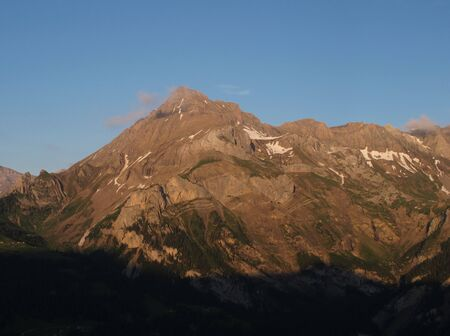 canton berne: Spitzhorn in the evening