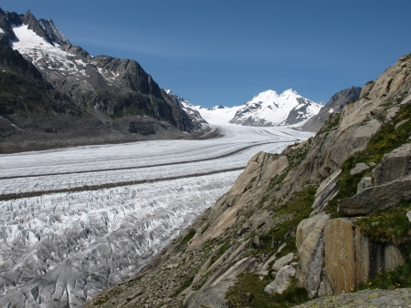 Aletsch Glacier, impressive stream of ice