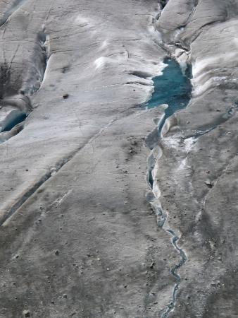 aletsch: Melting Aletsch Glacier and crevasses