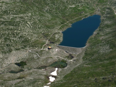 aletsch: Lake Maerjelensee, Aletsch Area Stock Photo