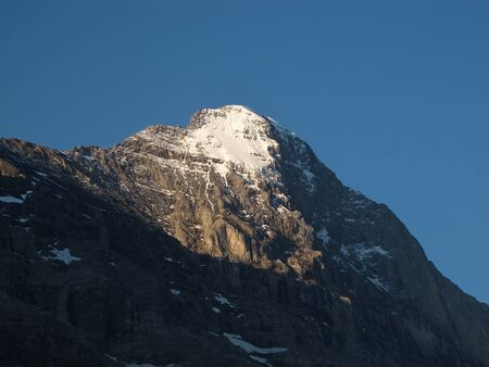eiger: Peak Of The Eiger Stock Photo